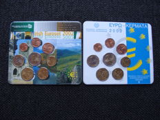 Greece + Ireland – Year collections 2002 (Issued by the Royal Dutch Mint)