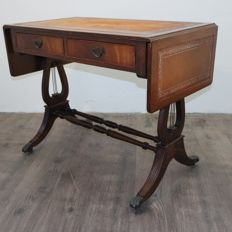 Mahogany writing desk with side flaps - 20th century