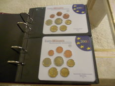 Germany – Album with the Euro blisters from years 2002 to 2007 ADFGJ (30 blisters).