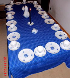 Rosenthal, complete coffee set for 12 people, 40-piece, 'Rosenthal romance in blue' , Björn Wiinblad design 1951