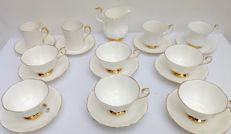 "Royal Albert, ""Val d'Or"" - 10  cups and saucers and milk jug"