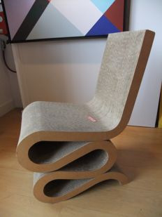 Frank Gehry for Jack Brogan or Chiru - Wiggle side chair