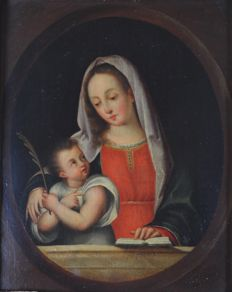 Continental school (18th century) - The Madonna and child