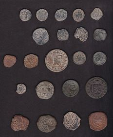 """Spain - Collection from the Habsburg dynasty (1566-1718) + Catalogue """"The Billon of the Habsburgs"""""""