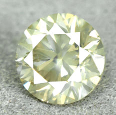 Diamond – 0.71 ct, NO RESERVE PRICE – Natural Fancy Greenish Yellow, VG/VG/VG