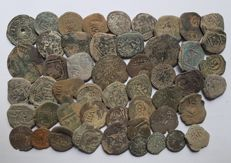 Spain - Lot of 49 Coins from Spanish Colonies of the House of Austria, 1500-1700 A.D. - Europe