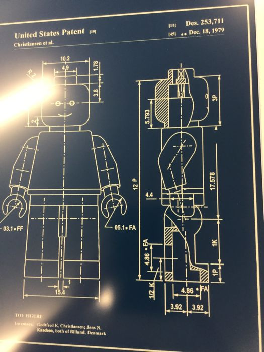 Assorted blueprint patent application lego mini figure in frame assorted blueprint patent application lego mini figure in frame reproduction engraving in blue plastic malvernweather Images
