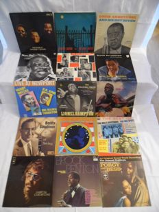 Beautiful Lot of - 15 Albums - In Jazz - Blues & Swing - 16 Records - Ramsey Lewis - Charlie Parker - Louis Armstrong - Count Basie - Duke Elling-