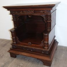 Solid walnut cabinet that can be used as a mini bar Napoleon III, France, late 19th century