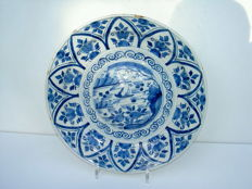 Beautiful folded plate from Delft - mid 18th century