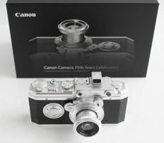 HANSA Canon: camera replica 1:1.4 of the first official Canon camera (1936), anniversary edition 75 years Canon, limited edition