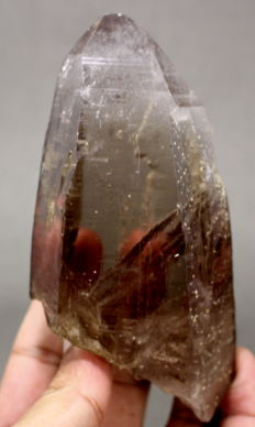 Beautiful Clear Smoky Cathedral Quartz Crystal Specimen - 10.5x5.8x4 CM - 378g