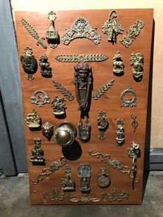 Collection of approx. 30 door knockers and ornamental fittings