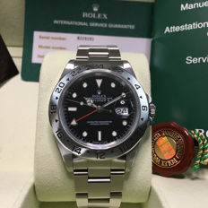 MEN'S ROLEX EXPLORER II Black Dial,  STAINLESS STEEL WATCH Ref. 16570