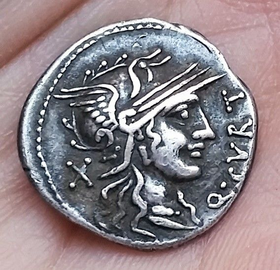 Roman Republic - Q. Curtius and M. Sergius Silus - AR Denarius (Silver, 20mm, 3,80g.), Rome mint c. 116-115 BC - Cr. 285/2, Syd. 537