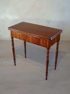 A mahogany Biedermeier games table - the Netherlands - c. 1830-1840