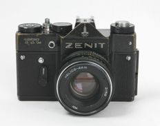 """Limited """"Olympia 1980 Edition"""" Russian SLR """"Zenit TTL"""" with Helios 2.0/58 approx. 1980"""