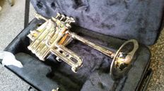 Piccolo Trumpet ChS PTR3110N with solid case, Bb tuning, silver-coloured