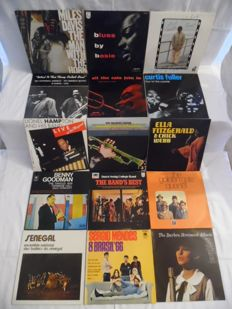 Beautiful Lot of - 15 Albums - In Jazz - Blues - Swing & Latin - 19 Records - Miles Davis - Count Basie - Art Blakey - Buck Clayton - Curtis Fuller -
