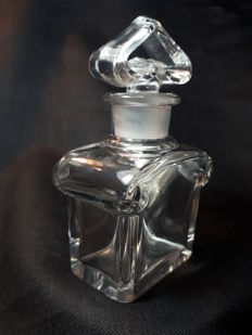 "Baccarat kristall glass -  Guerlain Paris ""Mitsouko""  Perfume Bottle"