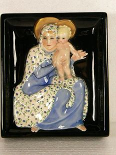 Lenci - Madonna with child wall plaque