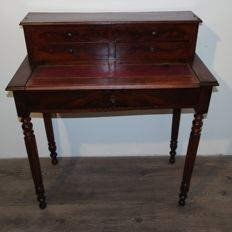 Mahogany writing desk in late Louis Philippe style France, late 19th century - early 20th century