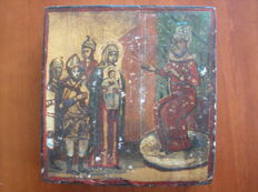 20th century ortodox russian icon hand painted