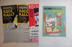 Meulen, Ever -  8x affiche - KB, ASLK, Rock Rally, Humo (Jaren '80/'90)