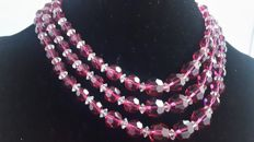 Marcel Boucher vintage fuschia magenta crystal New York 1950-1955