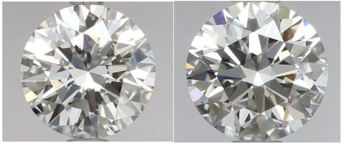Pair - Round Brilliant Diamonds 1.10ct total D IF  GIA - Low Reserve Price - # 1983-2303