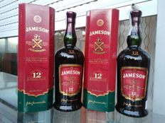 2 bottles - Jameson 12 OB 43% 1 LT - bottled 1990s - OB