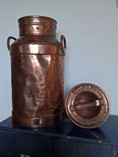 A beautiful copper plated milkchurn from Holland