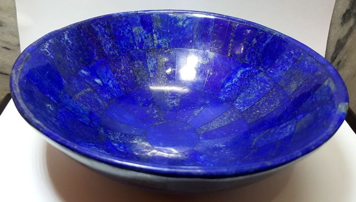 royal blue color very large lapis lazuli bowl 211 mm 815 gm catawiki. Black Bedroom Furniture Sets. Home Design Ideas