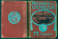 72 vintage Venice postcards in black/white, presumably early 1900s, booklet in good condition.