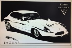 Decal - Art Work Jaguar E-Type
