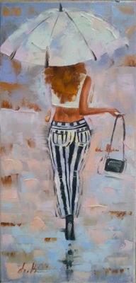 Lili Kalinuk - Girl in striped pants