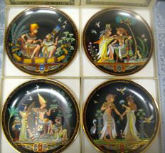 5 Plates with Egyptian Scenes