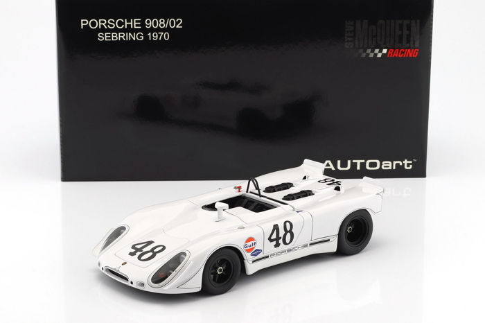 Autoart - 1:18 - Porsche 908/02 Green Park Sebring Second Position #48 1970