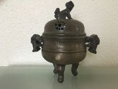 Bronze incense burner - China - early 20th century
