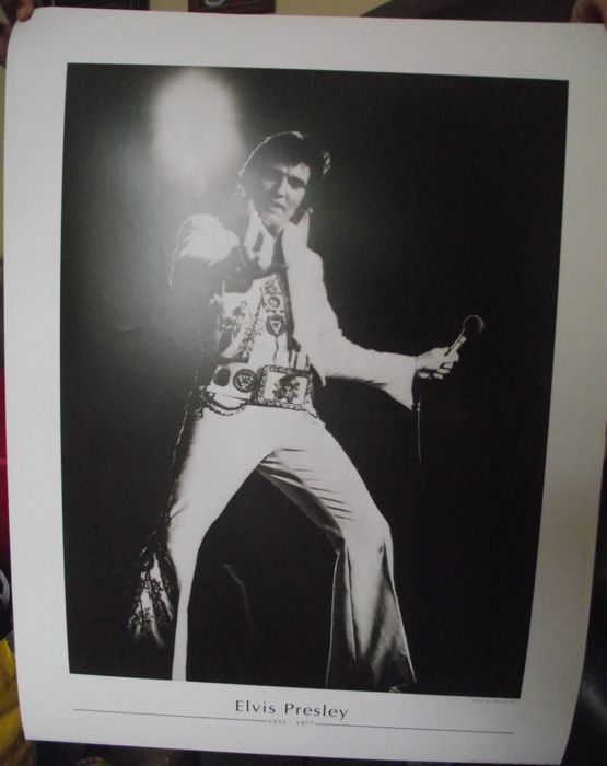 Two very cool rare elvis presley photo print posters approx 80 cm x 60 cm printed on very good quality photo paper
