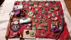 Vintage collection of pins; Lions Club