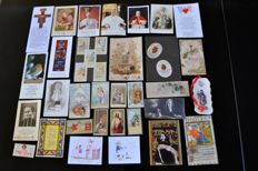 Lot of 445 images pious images:  Lot of 420 pious images: Agus Dei, Canivets, school stars,  sorted by topic: saints, icons, Virgin Mary, bookmarks, images for children etc... 19th - 20th century
