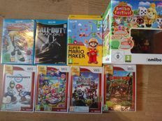 Lot of 8 Wii and Wii U games - incl Super Mario Maker, Mario kart, Super Smash Brothers, Mario Party & Donkey Kong Country
