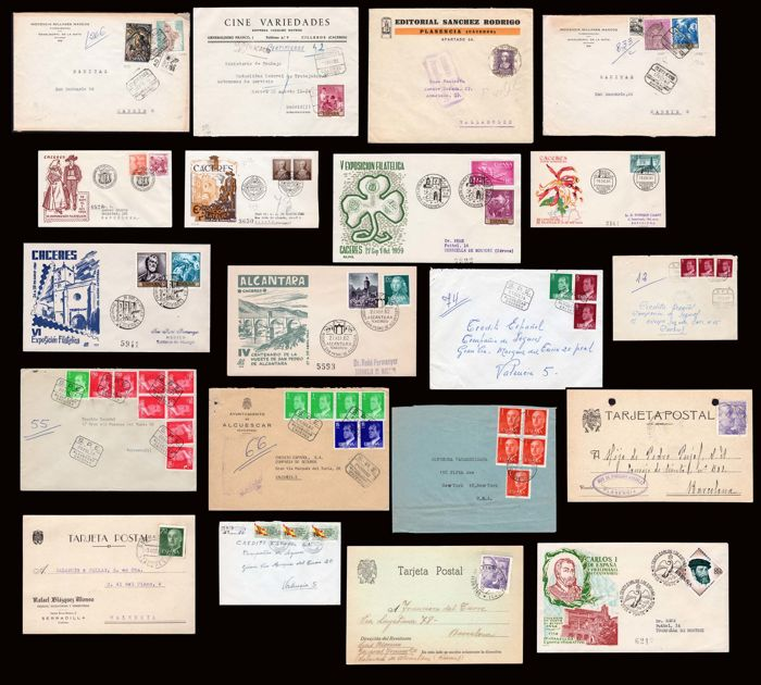 Spain 1930/1982 - Lot of 20 pieces from the province of Caceres