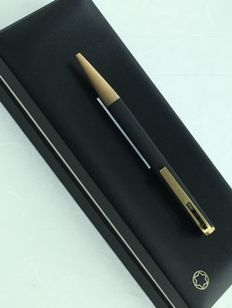 MONTBLANC ballpoint pen black with double accents and with a lever mechanism