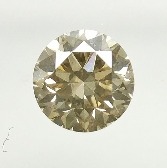0.19 ct Round cut diamond Fancy Light Yellowish Brown VS1  -No Reserve