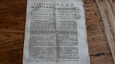 Newspapers; Lot with 8 Dutch newspapers from Friesland and Haarlem - 1812 / 1816