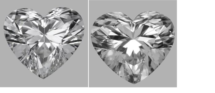 Pair - Heart Brilliant Diamonds 1.00ct total D VVS1  GIA - Low Reserve Price - # J4890-J7890