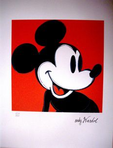 Andy Warhol (after) - Lithograph - Mickey Mouse (1986)