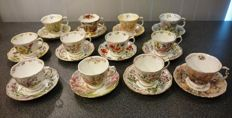 Royal Albert collection of 12 cups and saucers